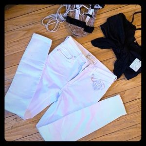 White free people jeans